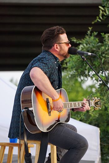 David Nail performing at Party in the Park, sponsored by WEZL 103.5 Musician Music Concert