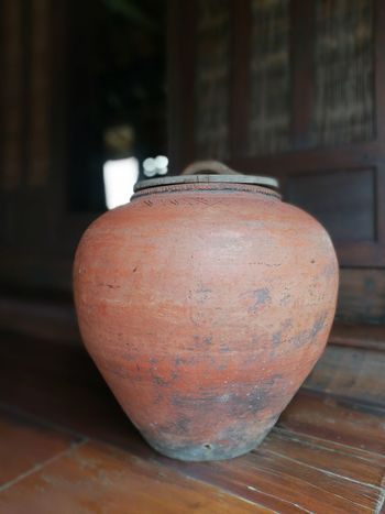 Water Jar Country Old House Suphanburi No People Old Town Country Life Thailand Old-fashioned Day Lovephotography  Close-up