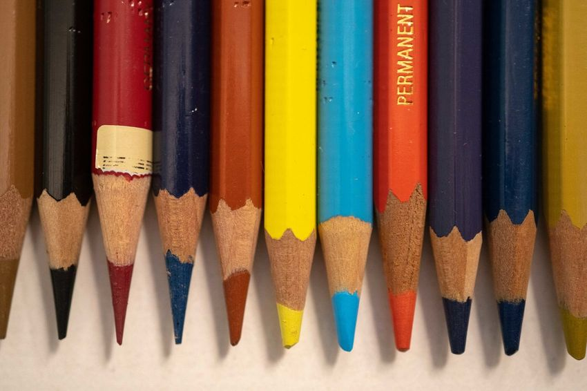 Multi Colored Choice Variation Pencil Still Life Close-up Writing Instrument Art And Craft Colored Pencil Art And Craft Equipment Creativity