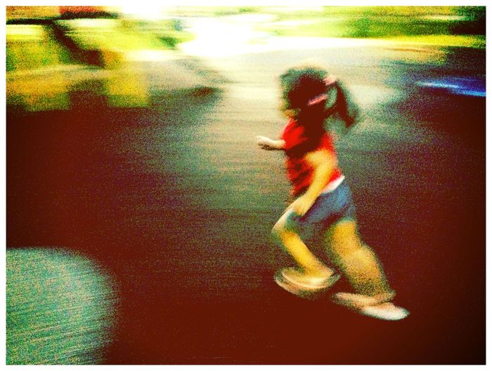 Run Away Girl! Dont Want To Take Picture Hello World Relaxing