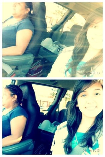 Me And My Mommy At The Car <3