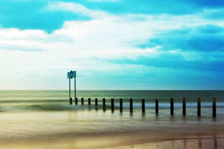 Sea Horizon Over Water Sky Water Beach Tranquility Pier No People Nature Built Structure Cloud - Sky Day Outdoors Scenics Beauty In Nature