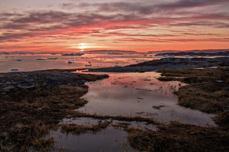 Clouds And Sky Cold Eyeemlandscape Frozen Frozen Water Greenland,ilulissat Ice Iceberg, Icebergs Landscape The Great Outdoors - 2016 EyeEm Awards Sunset, Travel Photography