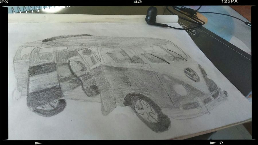 Van Drawing Van VW Paodeforma