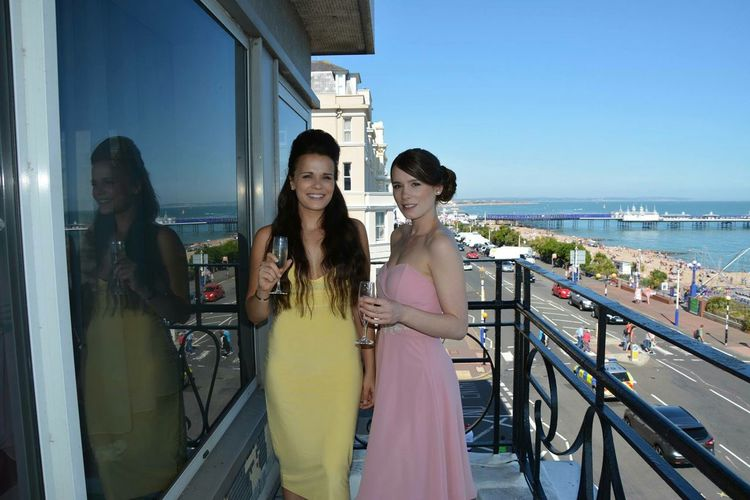 Bridesmaids Beautiful Dress Wedding Eastbourne Pier