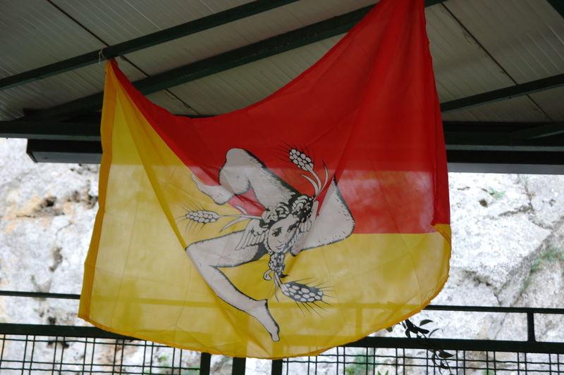 Close-up Day Flag Multi Colored Nature No People Outdoors Sicilia Sicily Trinacria Yellow