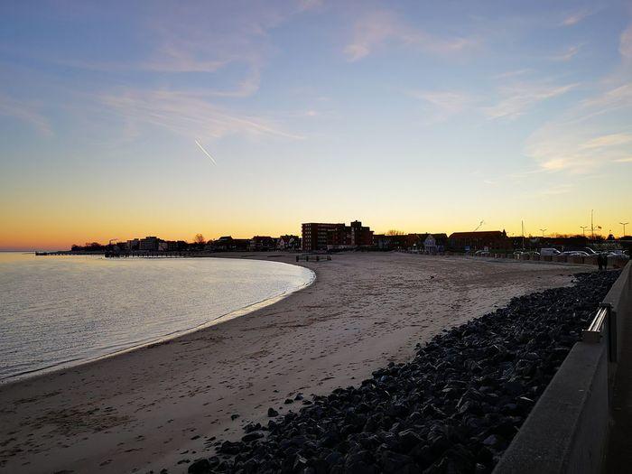 Sunset in Wyk auf Föhr Wyk Auf Föhr  Föhr Insel Föhr Nordsee Outside Nature Relaxing Evening Sunset Beach Sky Shore Calm Ocean Horizon Over Water Scenics Tranquil Scene Idyllic Sand Sea