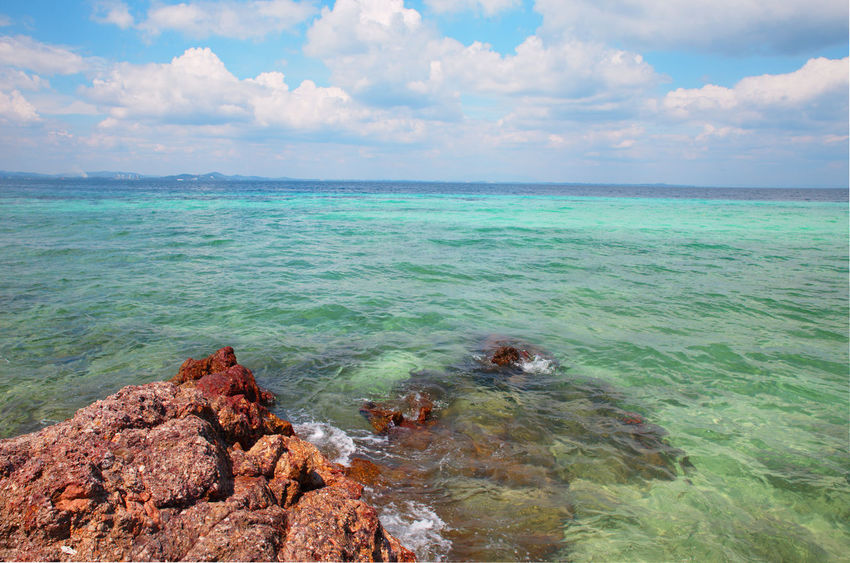 Beach Beauty In Nature Blue Cloud - Sky Day Horizon Over Water Landscape Multi Colored Nature No People Outdoors Sand Scenics Sea Sky Summer Sun Sunlight Tourism Tranquility Travel Travel Destinations Tropical Climate Vacations Water