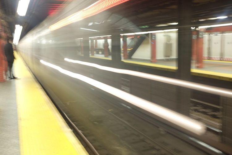 Subway light trails, Herald Square NYC, February 2015 Subway NYC Herald Square OpenShutter