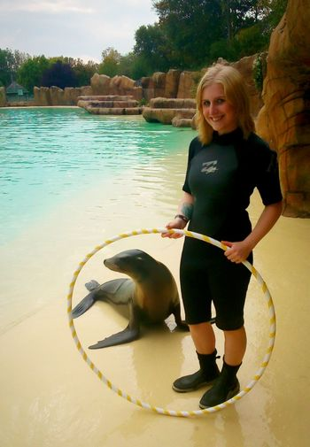 Volunteered at blackpool zoo with the sea lions :) Zoo Animals  Sealion  Blonde Blackpool