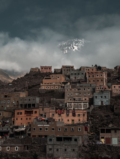 The Berber village of Aroumd in the High Atlas Mountains EyeEmNewHere High Atlas Morocco Travel Photography Architecture Building Building Exterior Built Structure Cloud - Sky Nature No People Outdoors Residential District Sky Smoke - Physical Structure Town TOWNSCAPE Travel Destinations The Photojournalist - 2018 EyeEm Awards Capture Tomorrow