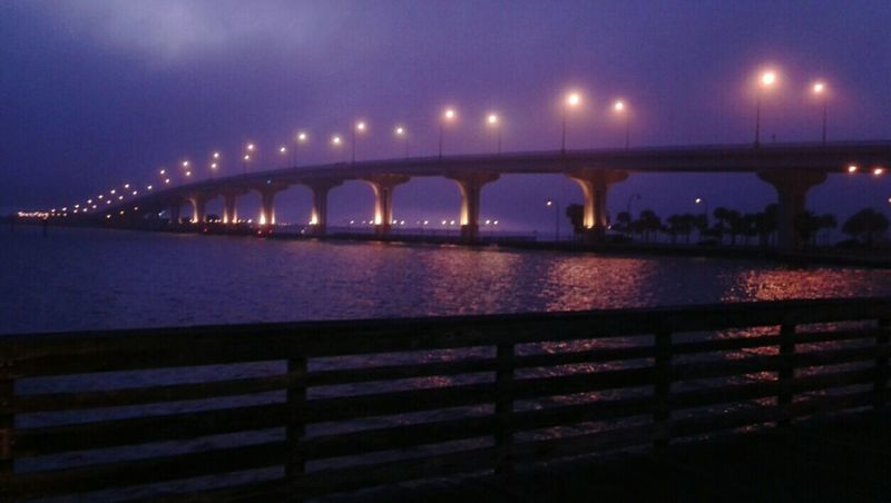 Purple Haze. Bridge - Man Made Structure Night Illuminated River Architecture Built Structure City Travel Destinations Waterfront Cityscape Romantic Scenery