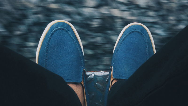 Shoe Human Body Part Low Section Person One Person Personal Perspective Horizontal Close-up Canvas Shoe Outdoors People Day Adult Train VSCO Lowexposure Favourite Places Be Brave