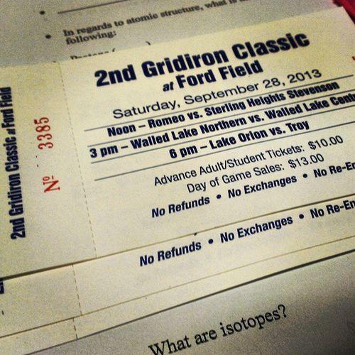 Finally got my tickets!! Fordfields Romeo Football Woo nextweekend finally