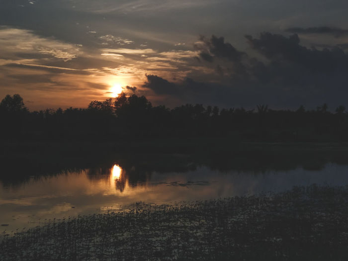 EyeEm Indonesia EyeEm Best Shots Reflection Tree Sunset Lake Landscape Nature Sky Scenics Cloud - Sky Forest Water Outdoors Sunlight Beauty In Nature Silhouette Tree Area Tranquility No People Day Fog Tranquil Scene