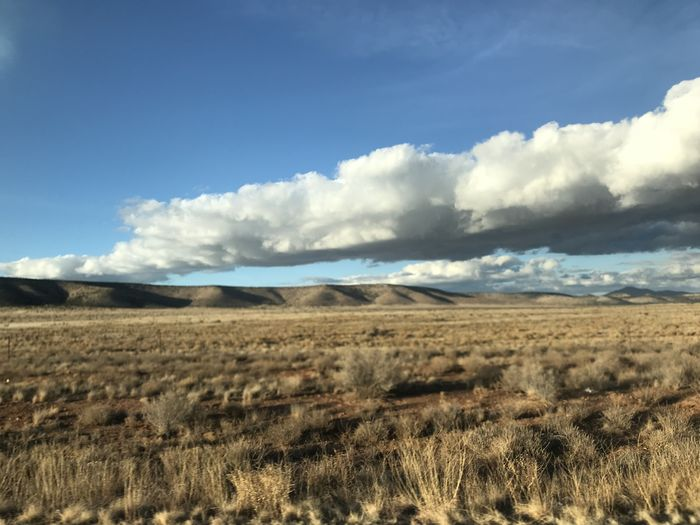 Dramatic Sky Route 66 Arid Climate Beauty In Nature Blue Cloud - Sky Day Environment Field Grass Land Landscape Mountain Nature No People Non-urban Scene Outdoors Plant Remote Scenics - Nature Seligman Sky Tranquil Scene Tranquility