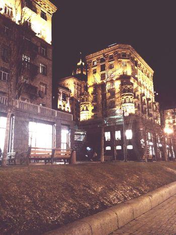 Night Illuminated Architecture Building Exterior Built Structure