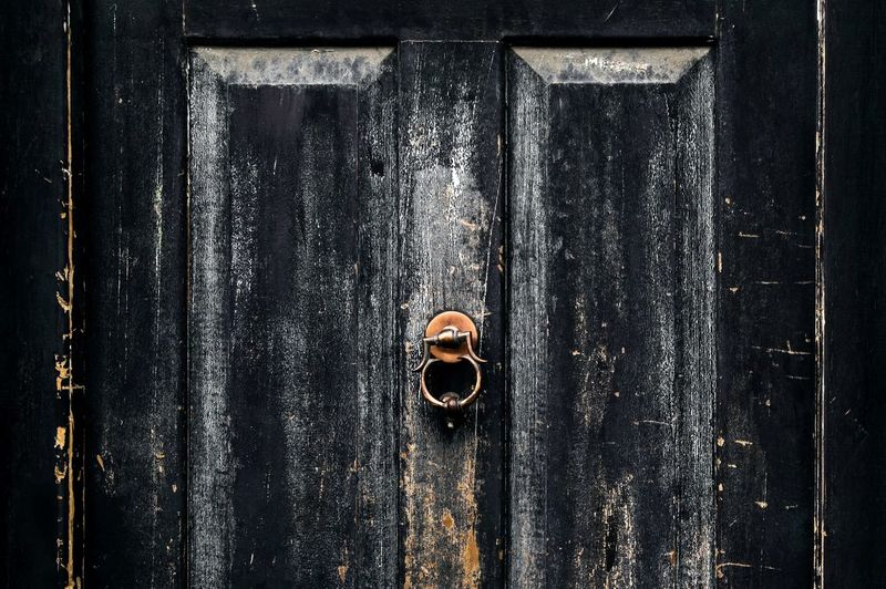 Close-up of door