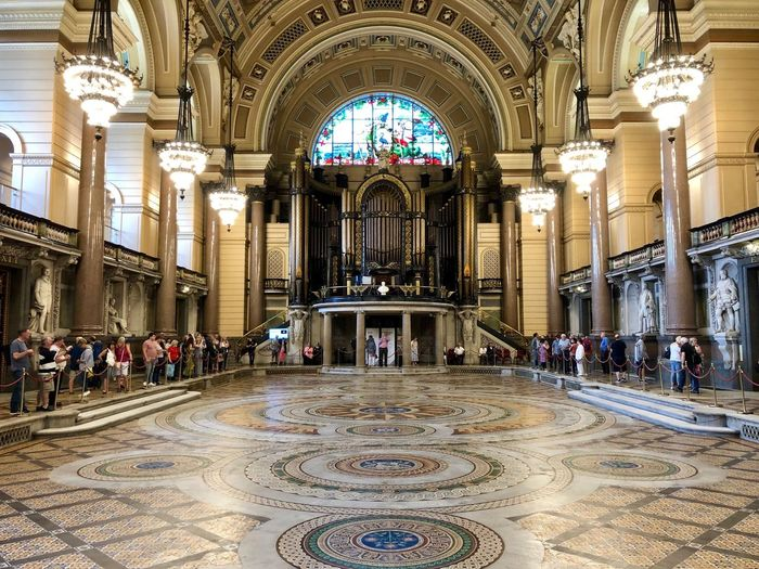 Great Hall with Minton Floor Revealed Architecture Group Of People Built Structure Crowd Travel Destinations Arch Large Group Of People