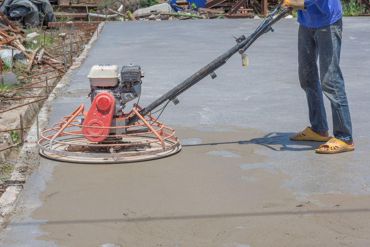 Construction Liquid Worker Backgrounds Cement Concrete Contractor Equipments Infrastructure Material Pattern Plastering Polishing Machine Reinforcement