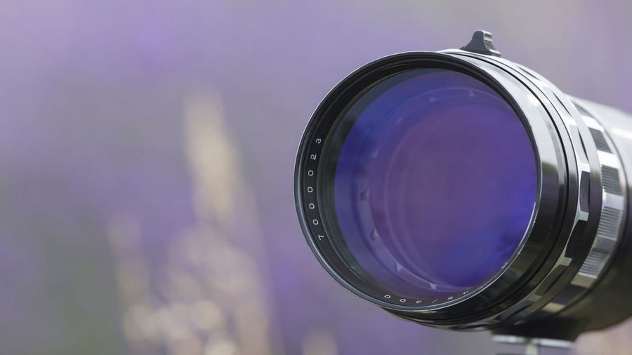 [Canon EF 300mm f/2.8 L IS II USM] Photography Themes Camera - Photographic Equipment Technology Close-up Lens - Optical Instrument Photographic Equipment Purple Camera Single Object Photographing No People Digital Camera Activity Glass - Material Focus On Foreground Equipment Circle Geometric Shape Shape Lens Vintage Lens Old Lens Old Camera Vintage Camera Lavander