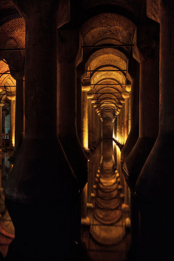 The Basilica Cistern, is the largest of several hundred ancient cisterns that lie beneath the city of Istanbul, Turkey Basilica Cistern City Column History Indoors  Istanbul Landmark No People Old Reflection Tourism Travel Destinations Turkey Underground Water Yerabatan