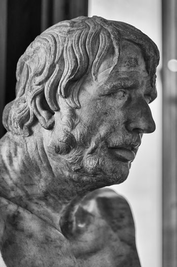 Roman stoic philosopher Seneca in the Uffizi Gallery, Florence Seneca Roman Philosopher History Classical Male Likeness Blackandwhite Black And White Art Monochrome Human Representation Sculpture Uffizi Textures And Surfaces Texture Close-up Historic Florence Italy Firenze Ancient Focus On Foreground