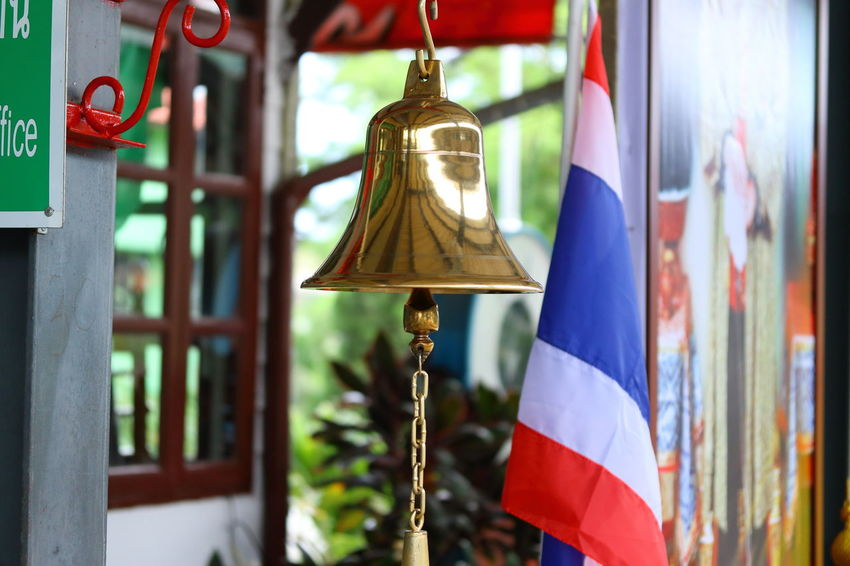 Bell Thai Thailand Transportation Architecture Belief Culture And Tradition Cultures Hanging Pakchong Railroad Railroad Station Religion Spirituality Thai Flag Thailand Flag Thailand_allshots Train Train Station Train Stations