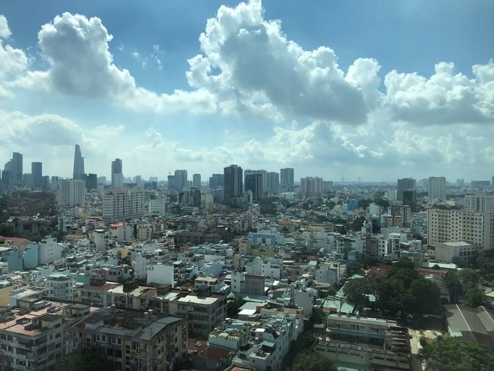 Place to stay Vietnam Building Exterior Architecture City Built Structure Sky Cityscape EyeEmNewHere
