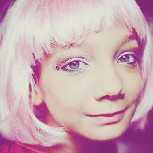 Millennial Pink Futuristic Headshot Close-up Portrait Costume Party Eyes BlueEyes Pinkhair Pink Color Pink Hair Blueeyedgirl Blueeyesgirl