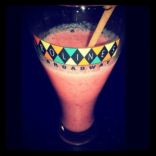 NY Homemsde Smoothie Strawberry raspberry banana iceicebaby carolines cup