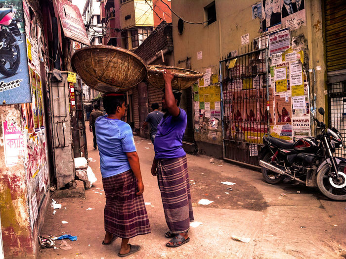 Bangladesh Business City Color Colors Dhaka Hawaii Outdoors People Rear View Same  Streethawker Streethawkw Streetphotography Streetphotography_bw Togetherness Two People