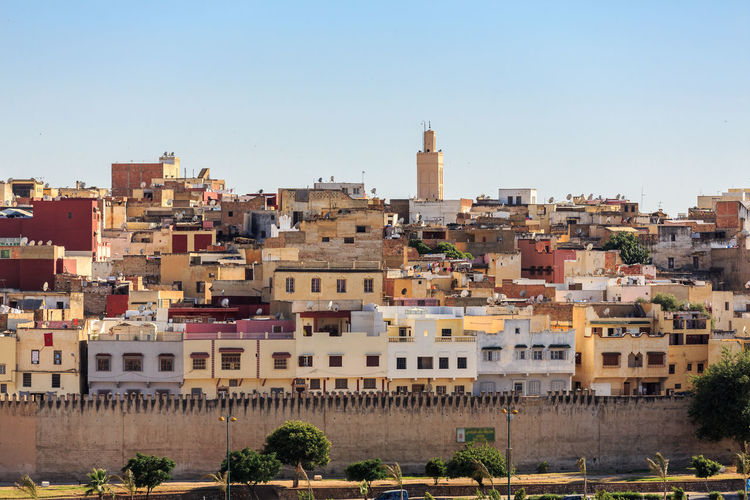 Medina Meknès Morocco Apartment Architecture Building Building Exterior Built Structure City Cityscape Clear Sky Community Day Nature No People Outdoors Plant Residential District Sky Tower TOWNSCAPE Travel Destinations Tree The Architect - 2018 EyeEm Awards