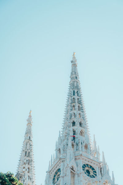 Climb Church Architecture Belief Building Building Exterior Built Structure City Clear Sky Gothic Style Low Angle View Nature No People Ornate Outdoors Place Of Worship Religion Sky Spire  Spirituality Tall - High Tourism Tower Travel Travel Destinations