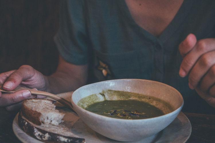 Soup in tradicional kyoto
