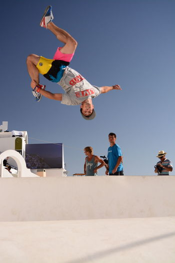 Art of Motion by RedBull - Parkour @ Santorini island, 2013 | Alternative Fitness Athlete Athletes Blue Sky EyeEm Best Shots - Sports Free Yourself Gestures In The Air Jump Jump Shot No Edit/no Filter Original Photo Parkour And Free Running People Portrait Sport Vertical Composition