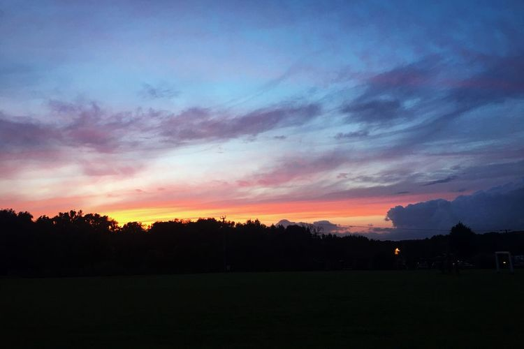 Sunset Over Wareham Colourful Colors Colours Of Nature Colours Silhouette Sunset Silhouette Beauty In Nature Tranquil Scene Scenics Tranquility Nature Dramatic Sky Sky Landscape Summer Exploratorium