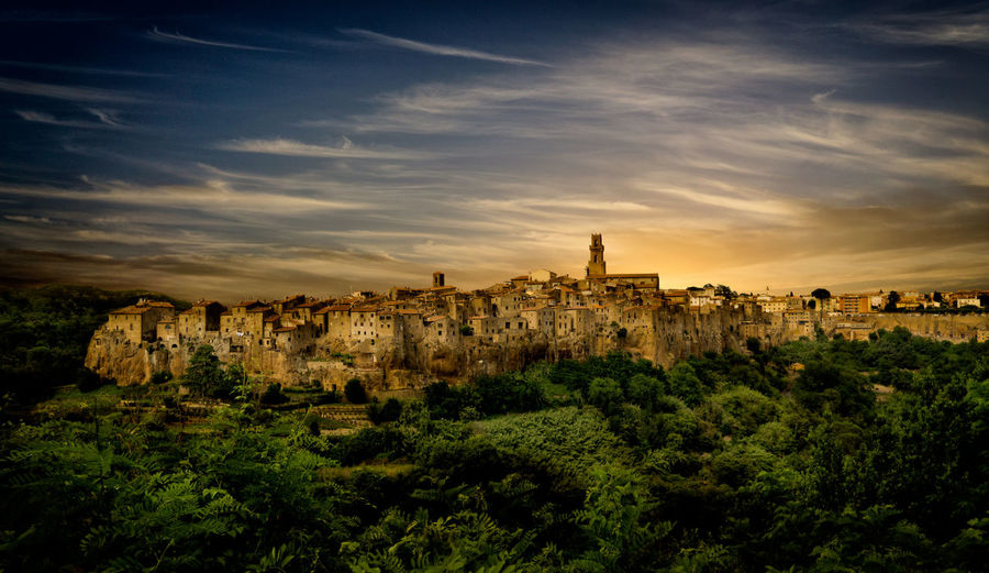 My personal vision of Pitigliano (Italy) Italy Landscape Landscape_photography Photoshop Edit Pitigliano Pitigliano Italy Italy Photos Sunset Sunset Photography Tuscany