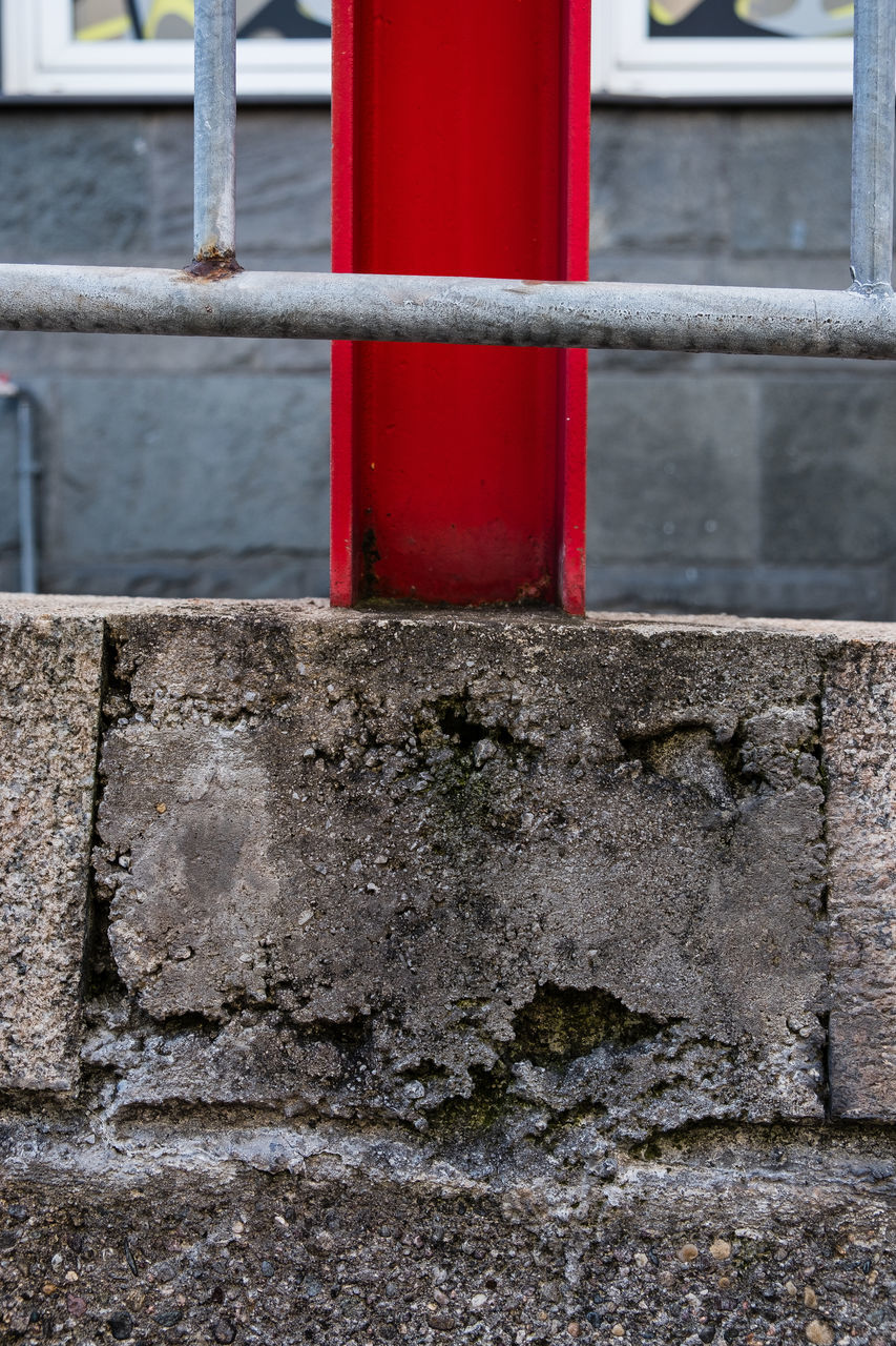 red, built structure, metal, architecture, pipe - tube, day, outdoors, building exterior, no people, close-up, water