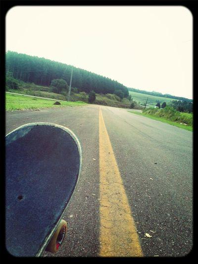 Skateboard In The Road O/