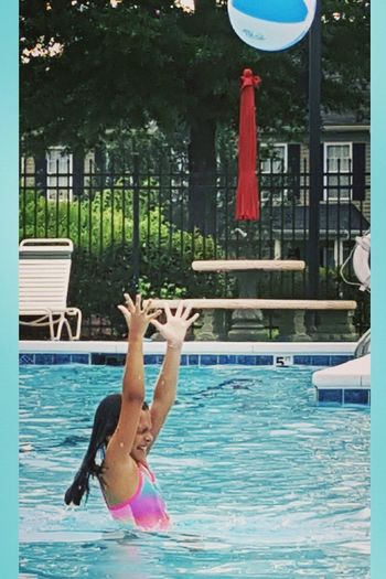 Pool Fun The Essence Of Summer Fun Pool Poolside Throwtheball Laugh Summertime Summer Beautyqueen Enjoying Life Taking Photos
