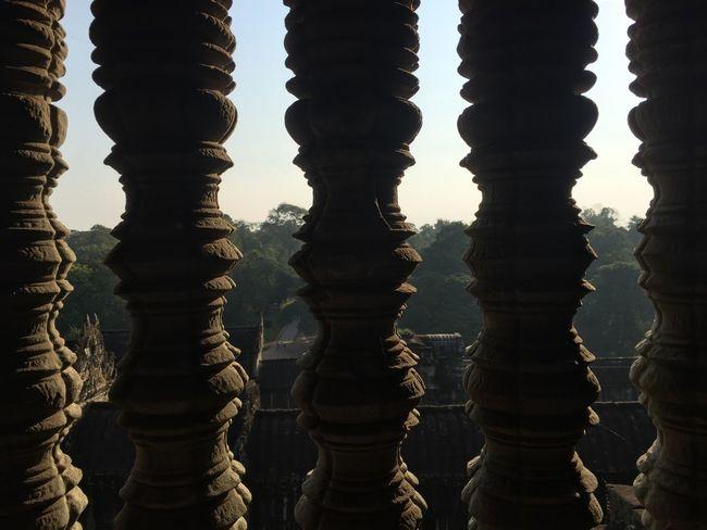 Angkor Wat Angkorwat Temple Cambodia Tempel Säulen Tombraider Columns And Pillars Kambotscha