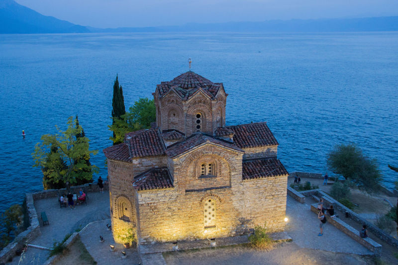 Chapel Church Night Lights Nightphotography Travel Adventure Architecture Beauty In Nature Building Exterior Built Structure Day High Angle View Lake View Lakeshore Nature Night No People Outdoors Place Of Worship Religion Sea Sky Spirituality Travel Destinations Water