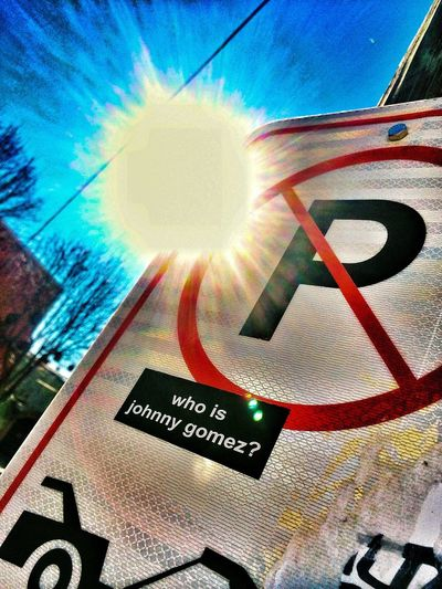 Sun No Parking Signs Johnny
