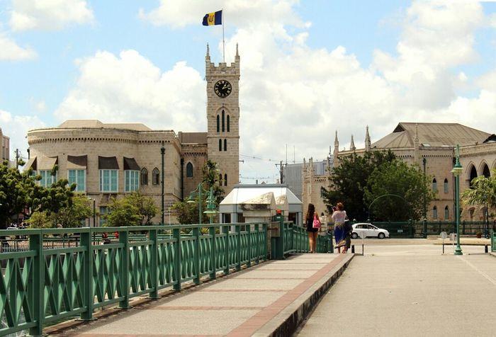 Cityscapes Barbados City National Flag Historical Building Clock Tower Clocktower Bridge Tourists Island Life
