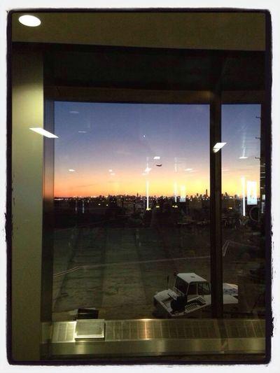 Skies skies skies Plane Boarding Layover sunset