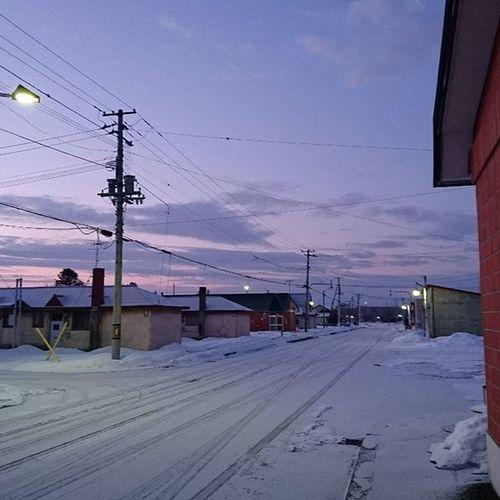 なおphoto 夜明け前 自宅前から -8℃ おはようございます‹‹\( ´・ш・)/››☀ 今日もゆるーーーくよろしくねぇ♥