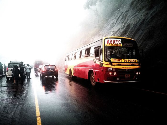 Bus moving