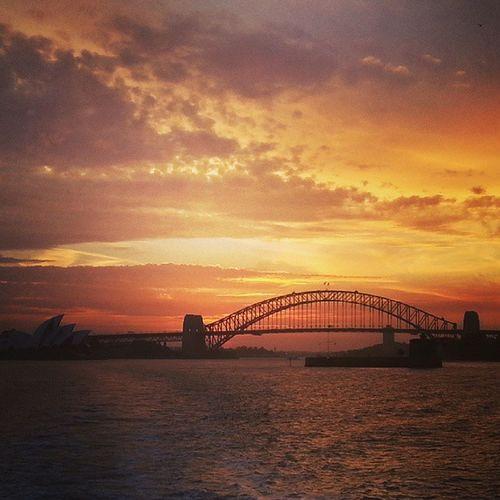 Aaaaaaah Friday twilights Sunset Sydney Sydneyoperahouse SydneyHarbourBridge Australia instagood