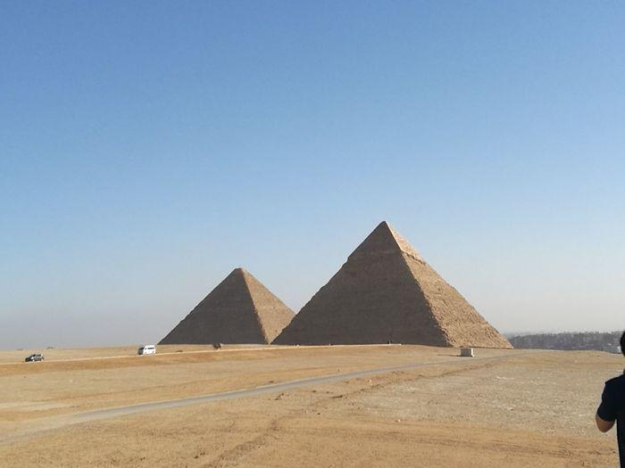 Giza Ancient Civilization City Clear Sky Desert Pyramid Arid Climate Sand Ancient History Monument